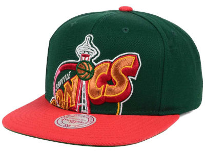 Seattle SuperSonics Mitchell & Ness NBA Hardwood Classic Cropped XL Logo Snapback Cap