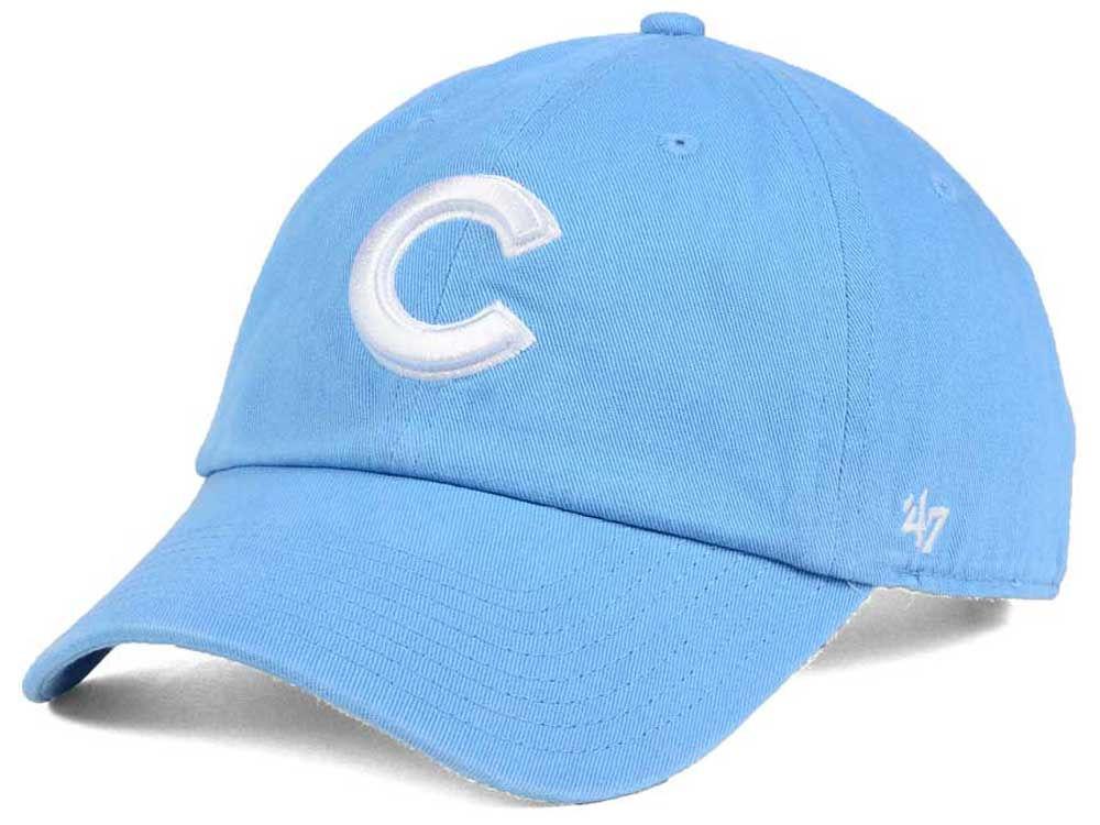 Chicago Cubs  47 MLB Women s Powder Blue White  47 CLEAN UP Cap ... 24c1f2f4e