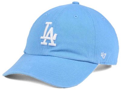 dfd5baa379a Los Angeles Dodgers  47 MLB Women s Powder Blue White  47 CLEAN UP Cap