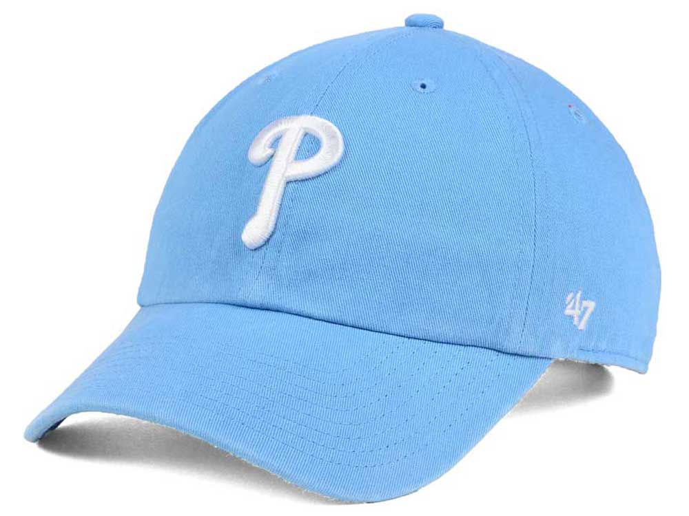 best sneakers fa0b3 ffe23 sweden philadelphia phillies 47 mlb womens powder blue white 47 clean up cap  7a792 095db