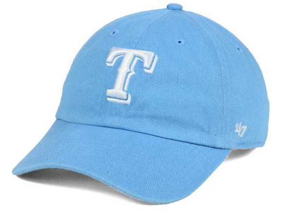 Texas Rangers '47 MLB Women's Powder Blue/White '47 CLEAN UP Cap
