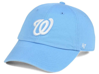 Washington Nationals '47 MLB Women's Powder Blue/White '47 CLEAN UP Cap