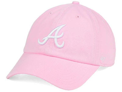 Atlanta Braves '47 MLB Pink/White '47 CLEAN UP Cap