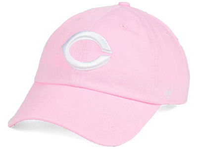 Cincinnati Reds '47 MLB Pink/White '47 CLEAN UP Cap