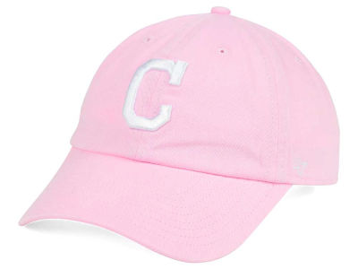 Cleveland Indians '47 MLB Pink/White '47 CLEAN UP Cap