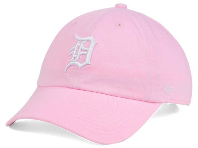 Detroit Tigers '47 MLB Pink/White '47 CLEAN UP Cap