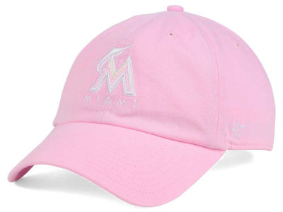 Miami Marlins '47 MLB Pink/White '47 CLEAN UP Cap