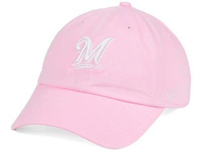 Milwaukee Brewers '47 MLB Pink/White '47 CLEAN UP Cap