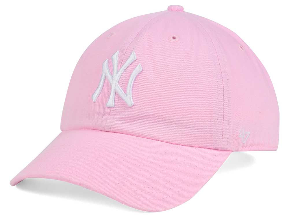 New York Yankees  47 MLB Pink White  47 CLEAN UP Cap 4a09e127066