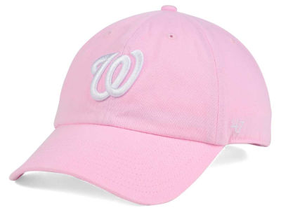 Washington Nationals '47 MLB Pink/White '47 CLEAN UP Cap