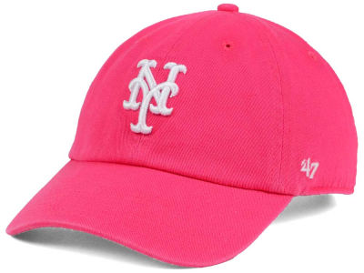 online store 107ad a6dbc ... greece new york mets 47 mlb pink white 47 clean up cap 14d21 8ae74