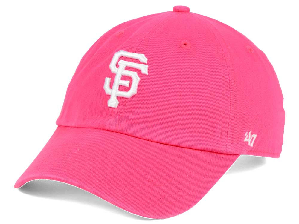 the latest 62073 728fa ... greece san francisco giants 47 mlb pink white 47 clean up cap lids  7f339 c2a8e