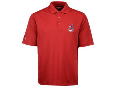 Cleveland Indians Antigua MLB Men's Pique Extra Lite Polo Shirt