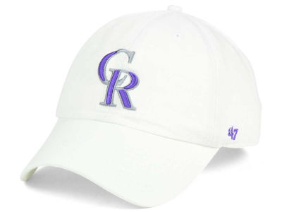 Colorado Rockies '47 MLB White '47 CLEAN UP Cap