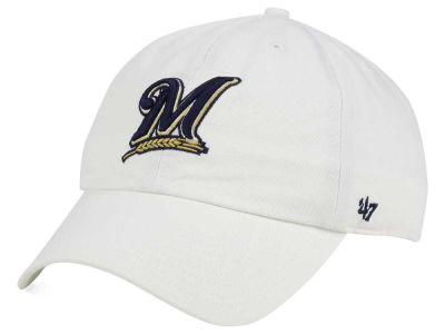 Milwaukee Brewers '47 MLB White '47 CLEAN UP Cap