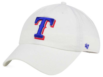 Texas Rangers '47 MLB White '47 CLEAN UP Cap