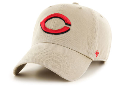 Cincinnati Reds '47 MLB Khaki '47 CLEAN UP Cap
