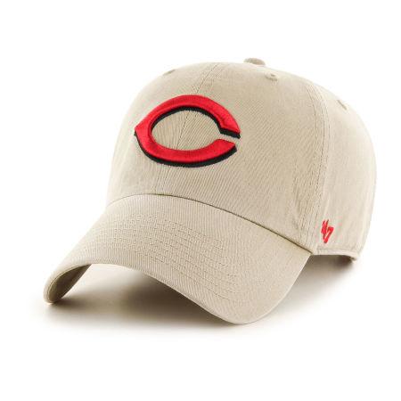 Cincinnati Reds '47 MLB Khaki '47 CLEAN UP Cap