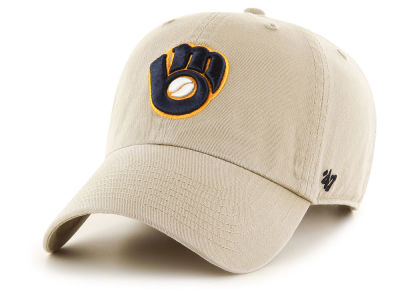 Milwaukee Brewers '47 MLB Khaki '47 CLEAN UP Cap