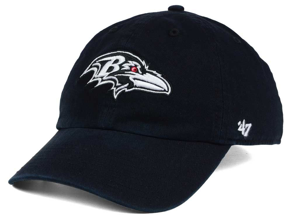 buy popular 01406 12205 low cost baltimore ravens 47 nfl black and white 47 clean up cap 722c0 9878b