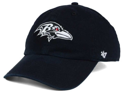 Baltimore Ravens '47 NFL Black and White '47 CLEAN UP Cap