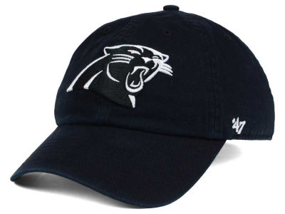 Carolina Panthers '47 NFL Black and White '47 CLEAN UP Cap
