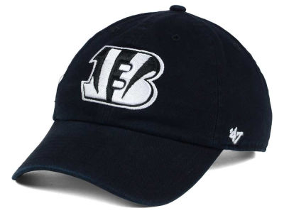 Cincinnati Bengals '47 NFL Black and White '47 CLEAN UP Cap