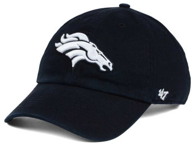 Denver Broncos '47 NFL Black and White '47 CLEAN UP Cap