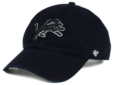 Detroit Lions '47 NFL Black and White '47 CLEAN UP Cap