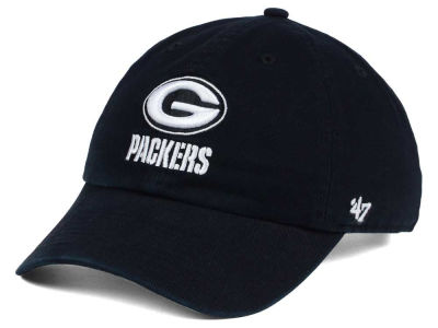 Green Bay Packers '47 NFL Black and White '47 CLEAN UP Cap