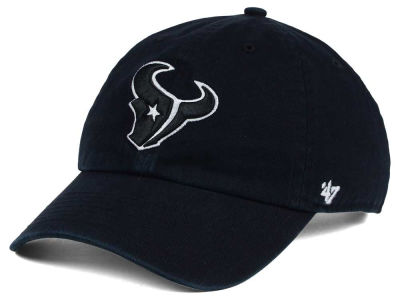 Houston Texans '47 NFL Black and White '47 CLEAN UP Cap