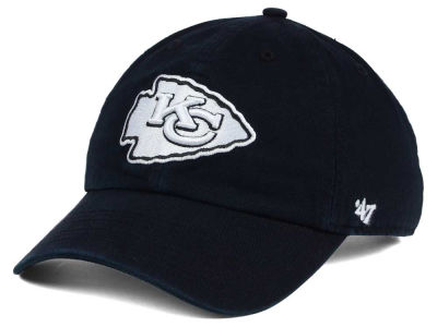 Kansas City Chiefs '47 NFL Black and White '47 CLEAN UP Cap