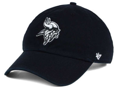 Minnesota Vikings '47 NFL Black and White '47 CLEAN UP Cap