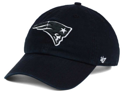 New England Patriots '47 NFL Black and White '47 CLEAN UP Cap