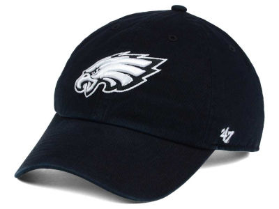 Philadelphia Eagles '47 NFL Black and White '47 CLEAN UP Cap