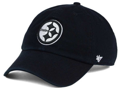 Pittsburgh Steelers '47 NFL Black and White '47 CLEAN UP Cap
