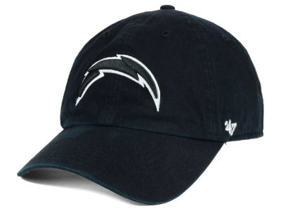 Los Angeles Chargers '47 NFL Black and White '47 CLEAN UP Cap