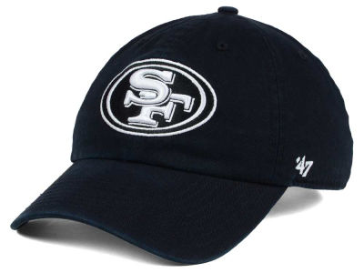 San Francisco 49ers '47 NFL Black and White '47 CLEAN UP Cap