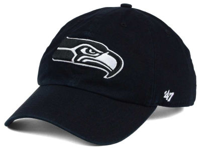 Seattle Seahawks '47 NFL Black and White '47 CLEAN UP Cap