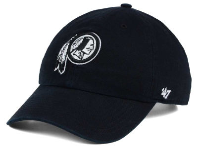 Washington Redskins '47 NFL Black and White '47 CLEAN UP Cap