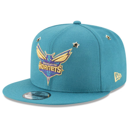 Charlotte Hornets New Era NBA All Star Gold Star Snapback Cap