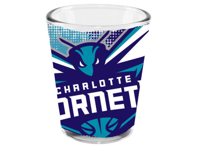 Charlotte Hornets 2oz Fade Away Collector Glass