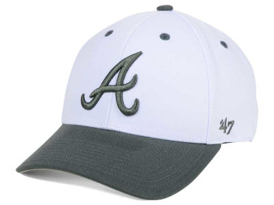 Atlanta Braves '47 MLB 2Tone White/Charcoal '47 MVP Cap