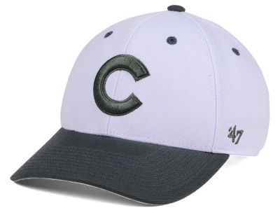 newest 6e8eb 6e113 Chicago Cubs  47 MLB 2Tone White Charcoal  47 MVP Cap