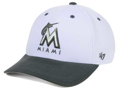 Miami Marlins '47 MLB 2Tone White/Charcoal '47 MVP Cap