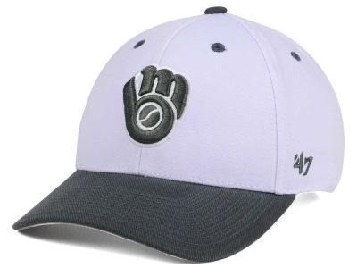 Milwaukee Brewers '47 MLB 2Tone White/Charcoal '47 MVP Cap
