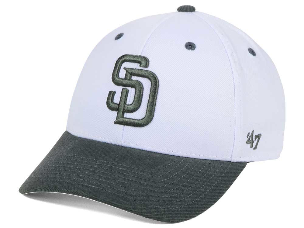 online store 53a2a 32667 ... amazon san diego padres 47 mlb 2tone white charcoal 47 mvp cap lids  36b92 f305e