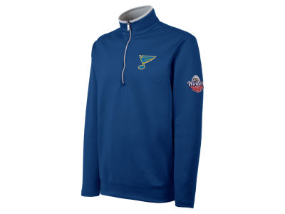 St. Louis Blues Antigua NHL Men's Winter Classic Leader Quarter Zip Pullover