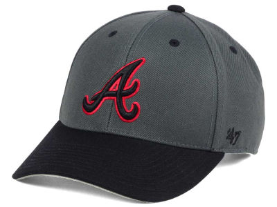 Atlanta Braves '47 MLB 2Tone Charcoal/Black Pop '47 MVP Cap