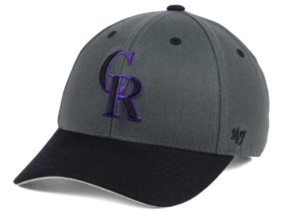 Colorado Rockies '47 MLB 2Tone Charcoal/Black Pop '47 MVP Cap